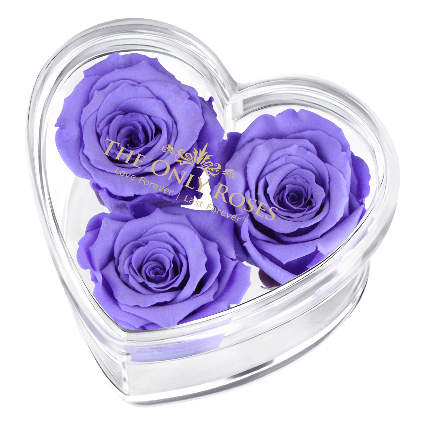 Purple Preserved Rose | Acrylic Rose Heart Box
