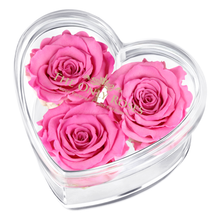 Load image into Gallery viewer, Pink Preserved Rose | Acrylic Rose Heart Box