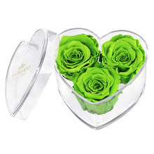 Load image into Gallery viewer, Green Preserved Rose | Acrylic Rose Heart Box