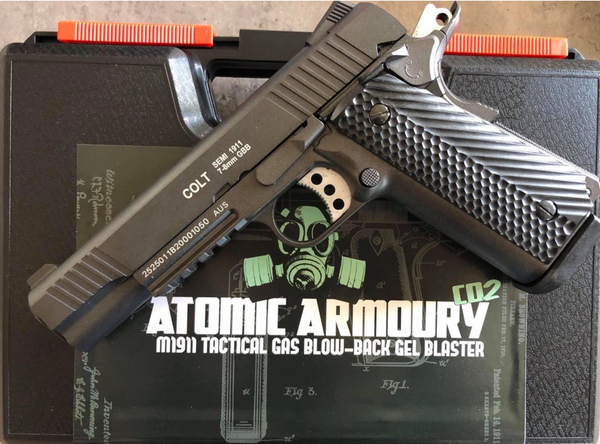 Atomic Armoury Colt 1911 Tactical Gas Powered Pistol Full Metal