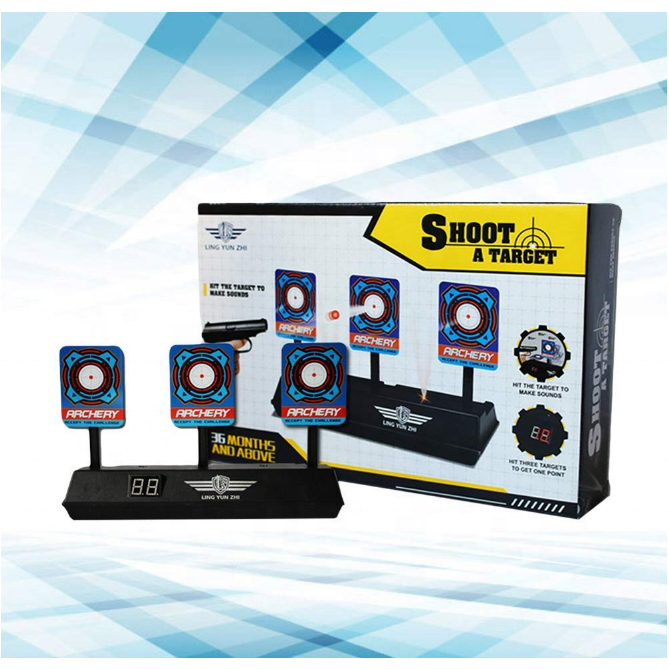 New! 3 Hit Targets, Automatic Reset Scoring Targets Electronic, Great for Gel Blasters.