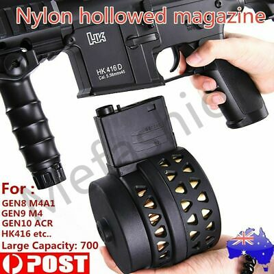 NYLON DRUM MAGAZINE FOR M4A1 GEN 8, GEN 9 SCAR V2, ACR J10