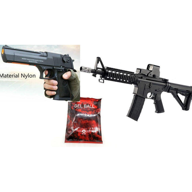 GEL BLASTER SPECIAL PACKAGE DEAL M4A1 GEN 8 RIFLE PLUS DESERT EAGLE PISTOL