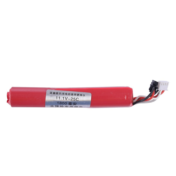 Quality 11.1 V ROUND LI-ION BATTERY 1800mAh, For Most Blasters.