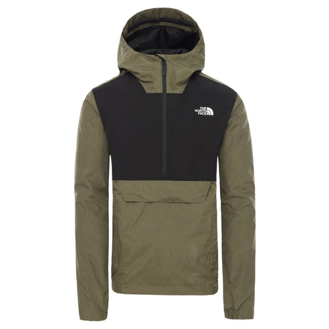 North Face Waterproof Fanorak Verde/Preto Frente