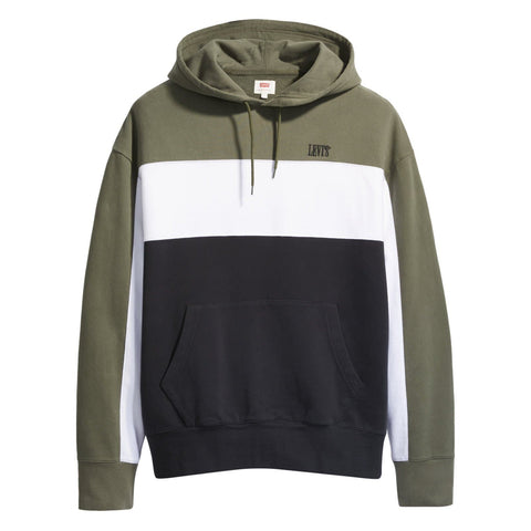Levi's Wavy Colorblock Hoodie Olive Green/White/Black