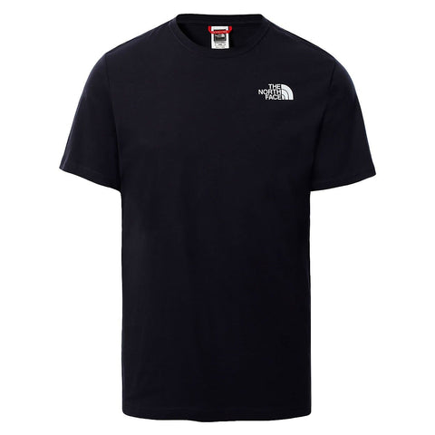 The North Face Red Box T-Shirt em Aviator Navy/Citronelle Green Ashbury Floral Print. Foto de frente.