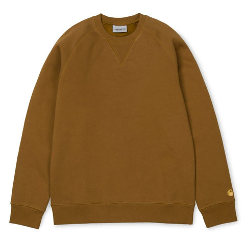Carhartt Chase Sweat Hamilton Brown/Gold