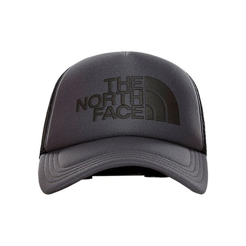 The North Face TNF Logo Cap em Asphalt Grey e TNF Black. Foto de frente.