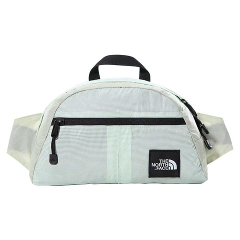 The North Face Flyweight Lumbar em Green Mist. Foto de frente.
