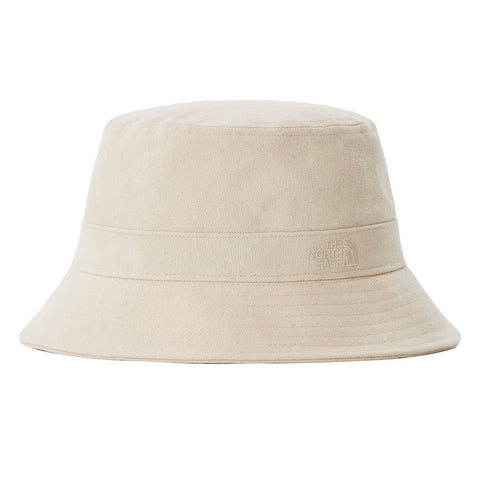 The North Face Mountain Bucket Hat Raw Undyed. Foto de frente.