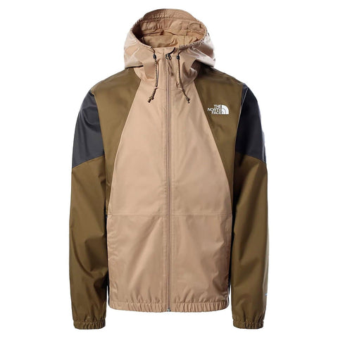 The North Face Farside Jacket em Kelp Tan. Foto de frente.