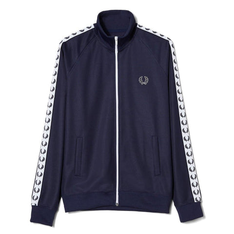 Fred Perry Sports Authentic Taped Track Jacket Carbon Blue