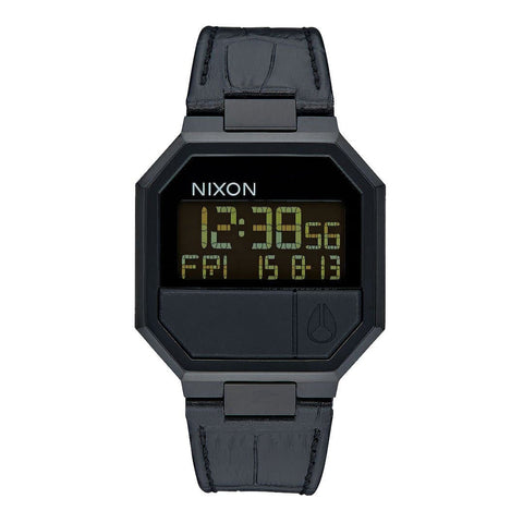 Nixon Re-Run Leather Black Croc