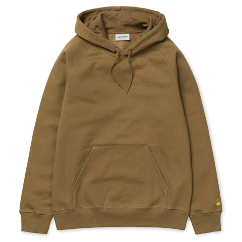 Carhartt Hooded Chase Sweat Hamilton Brown/Gold