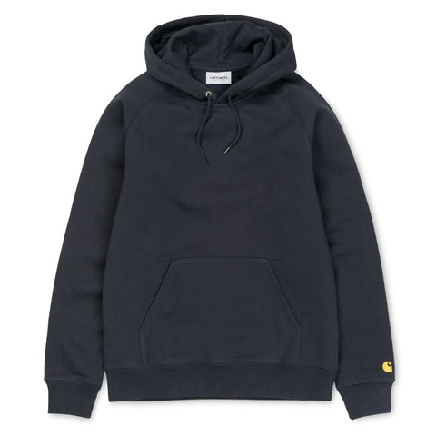 Carhartt Hooded Chase Sweat Dark Navy/Gold