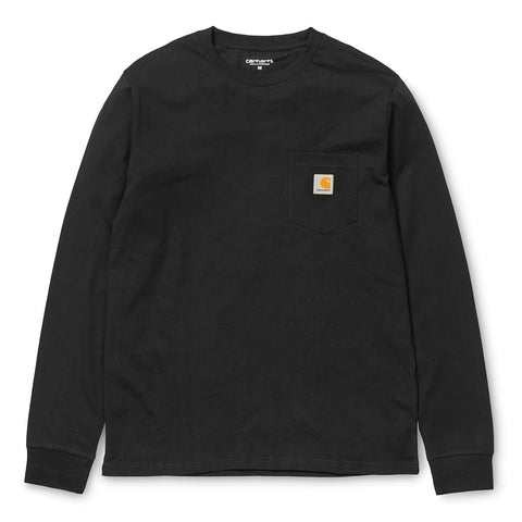 Carhartt Pocket Longsleeve T-Shirt Black