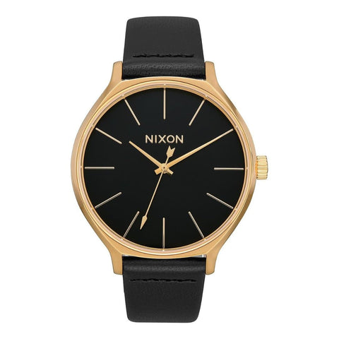 Nixon Clique Leather Gold/Black