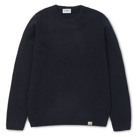 Carhartt WIP Allen Sweater Dark Navy