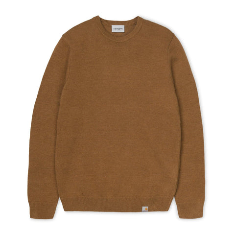 Carhartt WIP Allen Sweater Hamilton Brown
