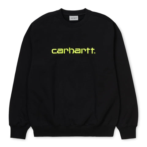 Carhartt WIP Carhartt Sweat Black/Lime Front