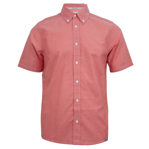 Carhartt WIP Cooke Shirt Coral Red Heavy Rinsed