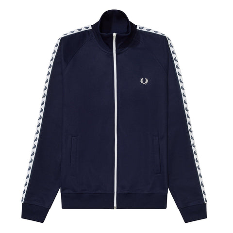 Fred Perry Taped Track Jacket Carbon Blue Frente