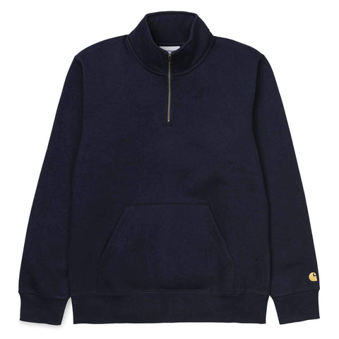 Carhartt WIP Chase Neck Zip Sweat Dark Navy/Gold