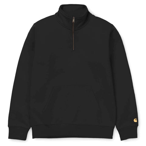 Carhartt WIP Chase Zip Neck Sweat Black/Gold