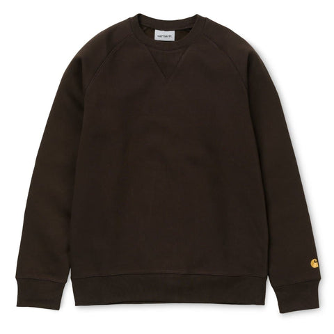 Carhartt Chase Sweat Tobacco/Gold