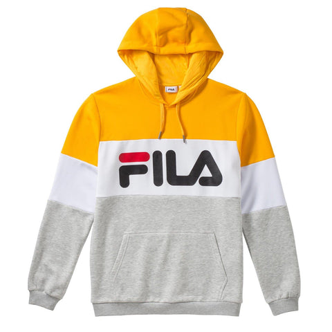 Fila Night Blocked Hoodie Yellow/White/Grey
