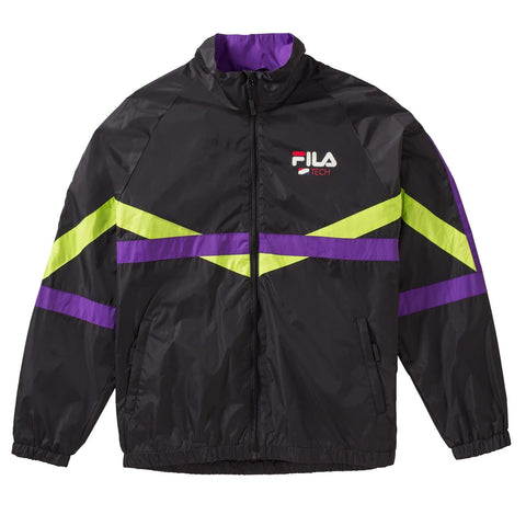 Fila Reign Track Jacket Black/Lime Green/Purple