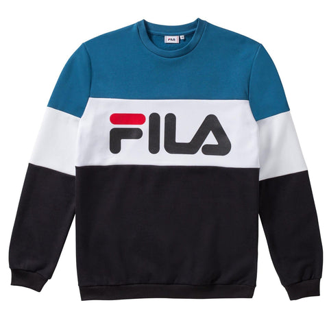 Fila Straight Blocked Crew Sweatshirt Blue/White/Black