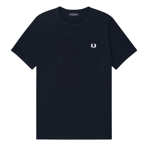 Fred Perry Ringer T-Shirt Navy/Navy