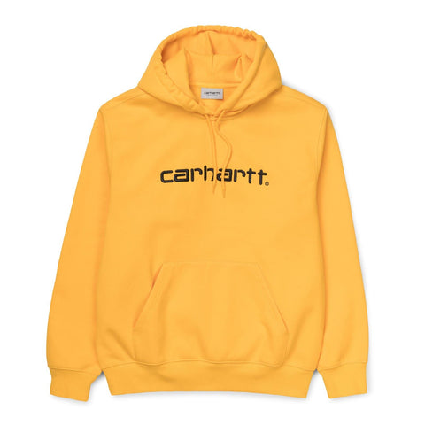 Carhartt WIP Hooded Carhartt Sweat Sunflower/Black Front