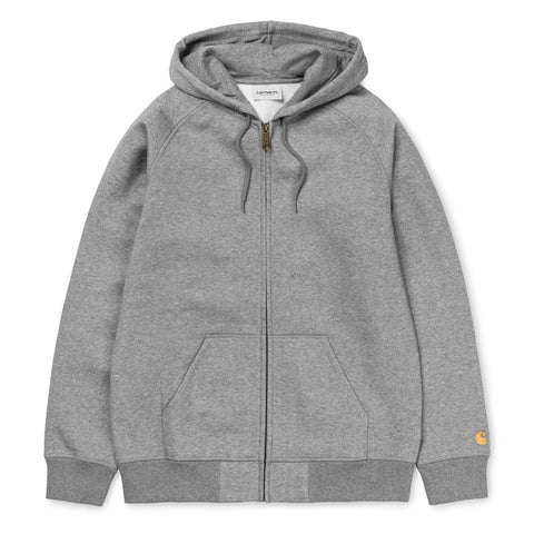 Carhartt WIP Chase Jacket Grey Heather/Gold Front