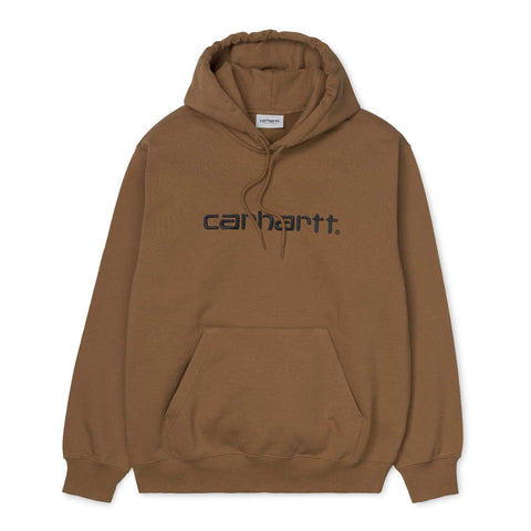 Carhartt WIP Hooded Carhartt Sweat Hamilton Brown/Black