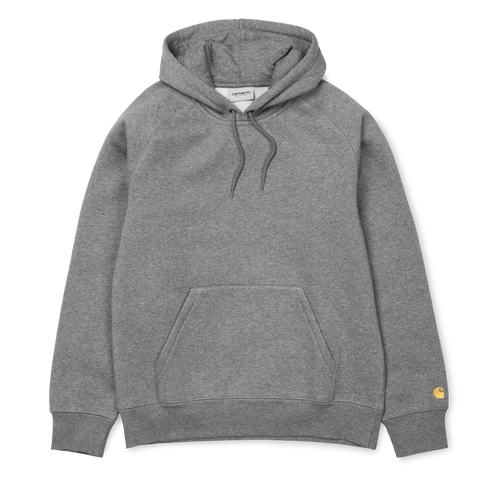 Carhartt Hooded Chase Sweat Dark Grey Heather/Gold