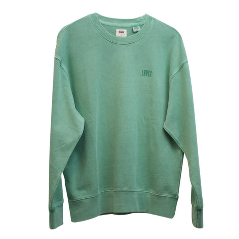 Levi's Authentic Logo Crewneck Sweat Verde Frente