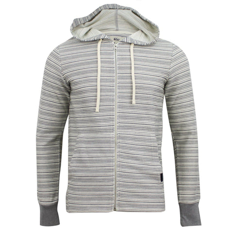 Lightning Bolt Rug Stripe Zip Jacket Grey/White