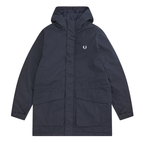 Fred Perry Padded Hooded Jacket Navy