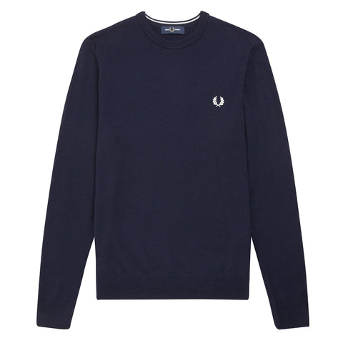 Fred Perry Classic Merino Crew Neck Jumper Navy