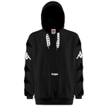 Kappa Authentic Sand Charice Hoodie Preto Frente