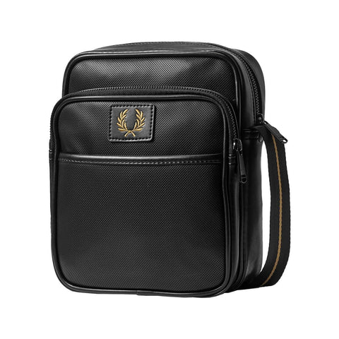 Fred Perry Pique Texture Side Bag Black