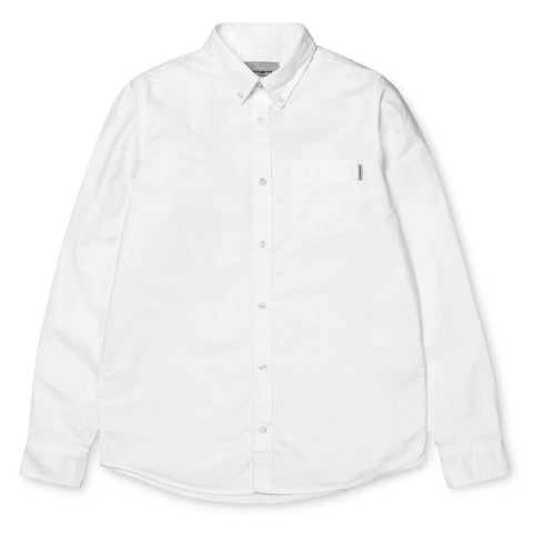 Carhartt WIP Button Down Pocket Shirt White Front