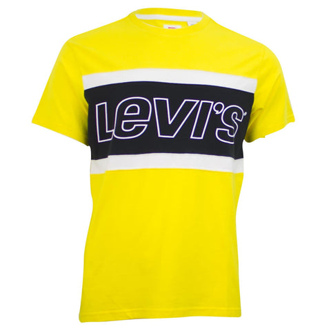 Levi's Color Block T-Shirt Yellow/White/Black