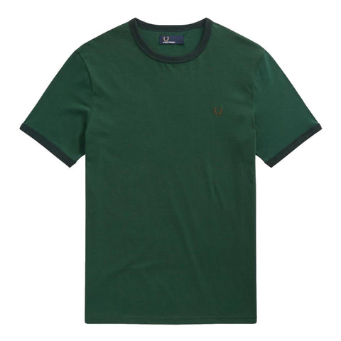 Fred Perry Ringer T- Shirt Green