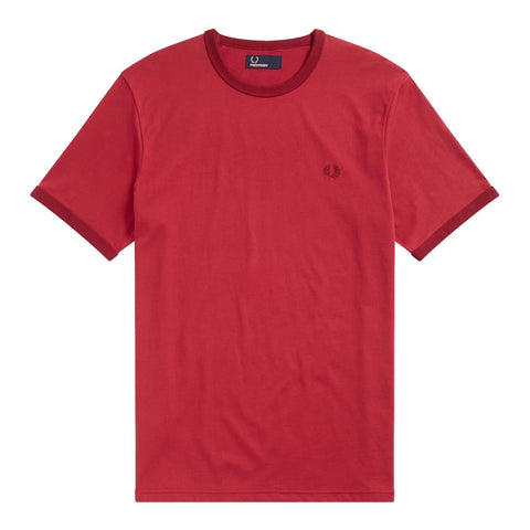 Fred Perry Ringer T-Shirt Red