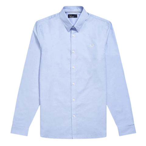 Fred Perry Button Down Shirt Blue