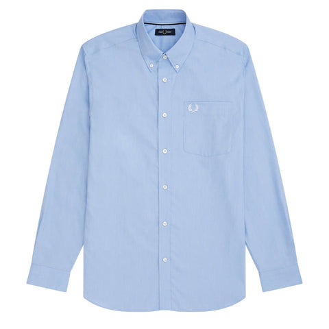 Fred Perry Oxford Shirt Azul Light Smoke Frente
